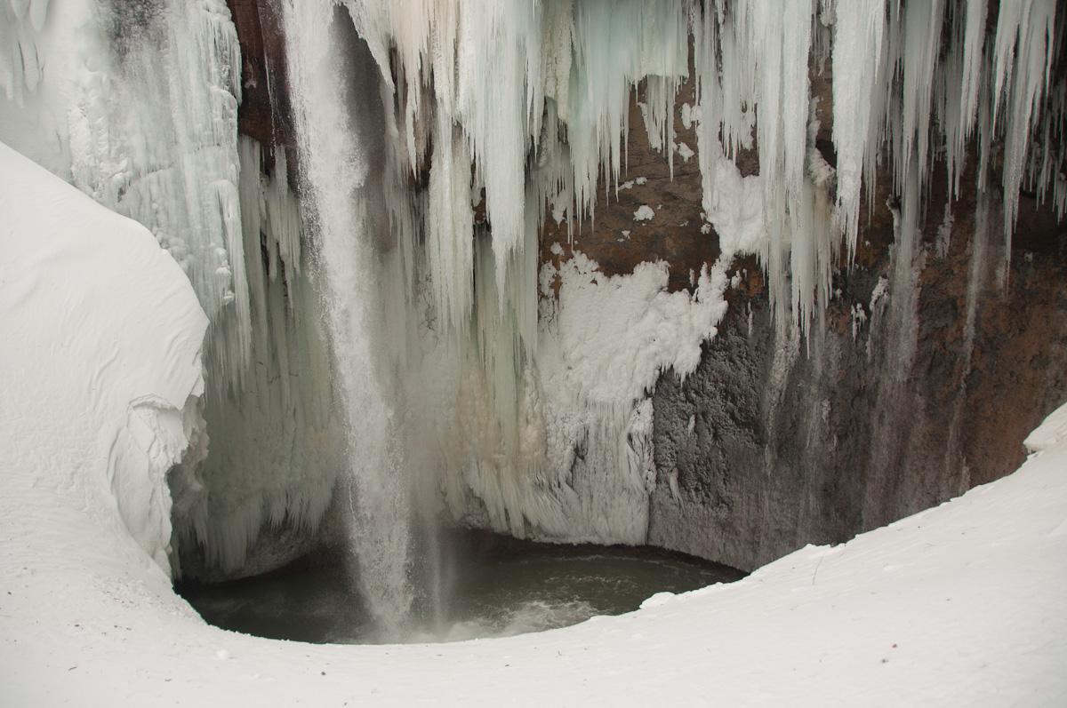 Ледопад 48, нижняя часть и котёл